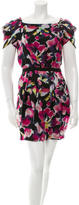 Diane von Furstenberg Silk Watercolor Print Dress w/ Tags
