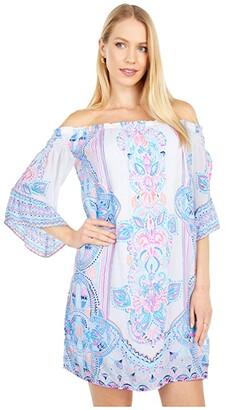 Lilly Pulitzer Fawna Dress (Resort White Chic Retreat Engineered Woven) Women's Dress