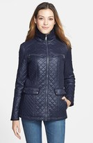 DKNY Quilted Stand Collar Coat (Online Only)