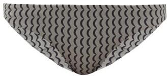 ASCENO Naples Wave-print Bikini Briefs - Grey Multi
