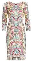 Etro Women's Paisley Jersey Sheath Dress