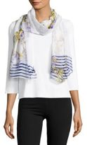 Cejon Lily Bloom Sheer Scarf