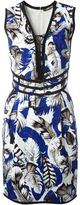Roberto Cavalli 'Plumage' woven dress
