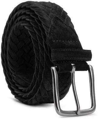 Dalgado Braided Suede Belt Black Ernesto