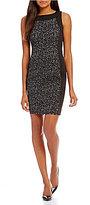 Calvin Klein Textured Panel Ponte Dress