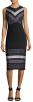 Prabal Gurung Striped Combo Sheath Dress