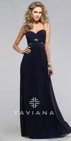 Faviana Rebecca Geometric Illusion Prom Dress