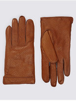 Collezione Textured Leather Gloves With Thinsulatetm