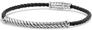 David Yurman Cable Leather Bracelet in Black