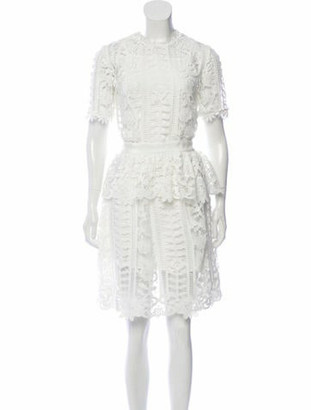 Ulla Johnson Knee-Length Lace Dress White