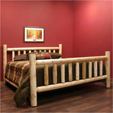 Asstd National Brand Cedar Log Low Post Bed