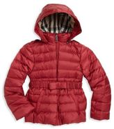 Burberry Little Girl's & Girl's Janie Hooded Down Puffer Jacket