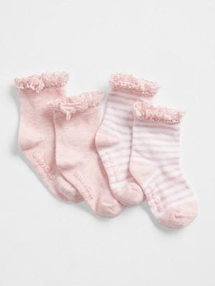 Gap Baby First Favorite Crochet Trim Socks (2-Pack)