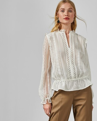 Ted Baker COMSEE Zip up lace top