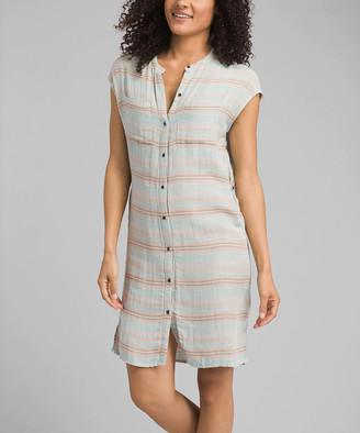 Prana Women's Casual Dresses Iced - Iced Aqua Buenos Dias Shirt Dress - Women