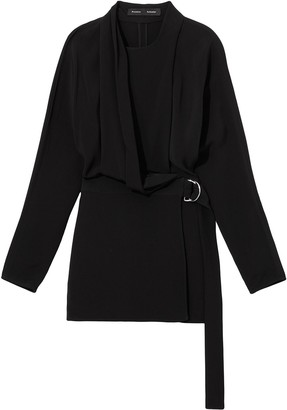 Proenza Schouler Draped Wrap Blouse