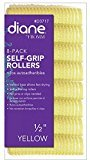Diane Self Grip Rollers, Yellow, 1/2 Inch, 8 Count