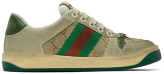 Gucci White GG Screener Sneakers