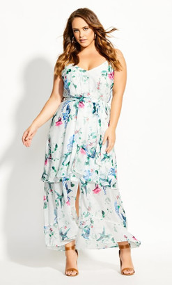 City Chic Spring Flight Maxi Dress - ivory