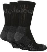 Jeep 3 pack Mens Extra Cushion Hiking Crew Socks with Arch Support