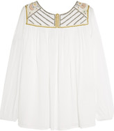 Paul & Joe Rosier embroidered muslin top
