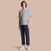 Burberry Striped Cotton Oversize T-shirt