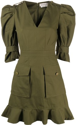 Alexander McQueen Military Mini Dress