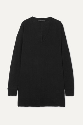 The Row Amherst Oversized Cashmere And Silk-blend Sweater - Black