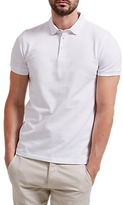 Selected Homme Snap Button Polo Shirt, White