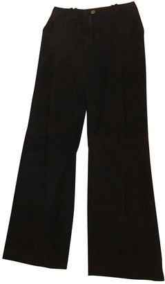 Chanel Brown Suede Trousers