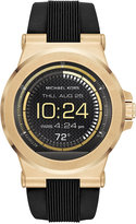 Michael Kors Unisex Access Dylan Digital Black Silicone Strap Smart Watch 46mm MKT5009