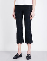 Claudie Pierlot Panama high-rise flared lace trousers