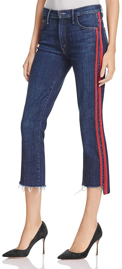 Mother Insider Step Crop Fray Jeans in Speed Racer