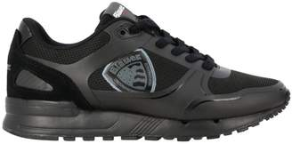 Blauer Sneakers Lace-up Sneakers In Micro Mesh And Leather With Logo