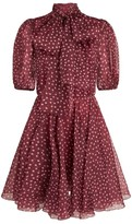 Dolce & Gabbana Silk Polka-Dot Mini Dress