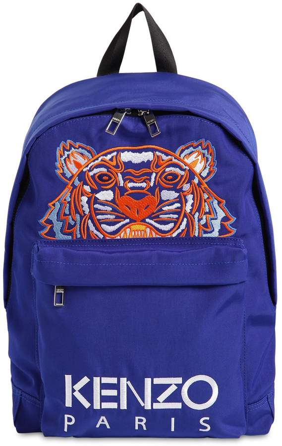 f26eaa1b159f TIGER EMBROIDERED TECHNO CANVAS BACKPACK