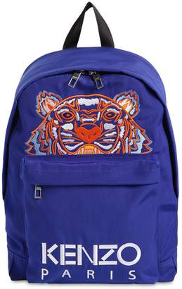 Kenzo TIGER EMBROIDERED TECHNO CANVAS BACKPACK