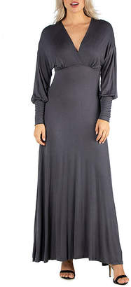 24/7 Comfort Apparel Formal Long Sleeve Maxi