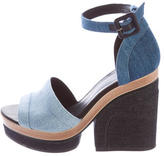 Pierre Hardy Denim Platform Sandals