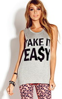 Forever 21 Take It Easy Muscle Tee