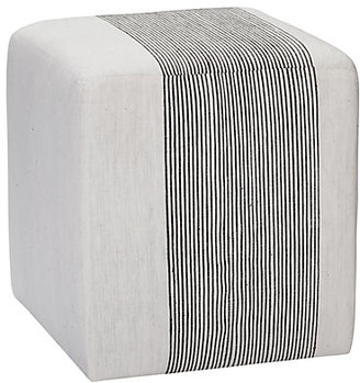Imagine Home Azur Cube Ottoman - Light Gray