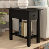 Andover Mills Lundgren End Table Color: Black