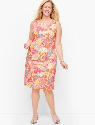 Talbots Textured Fruit & Flowers Shift Dress