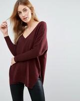 Subtle Luxury Life Essential Double V Cashmere Sweater