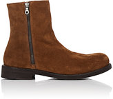 Barneys New York MEN'S SUEDE ANKLE BOOTS-BROWN SIZE 7 M