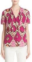 Etro Women's Ikat Print Silk Blouse