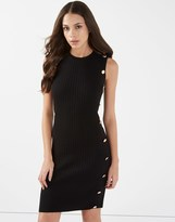 Lipsy Sleeveless Button Dress