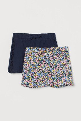 H&M 2-Pack Cotton Jersey Shorts