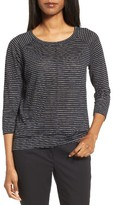 Nordstrom Women's Stripe Linen Knit Top