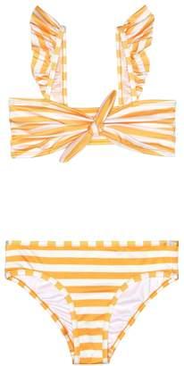 Zimmermann Kids Allia striped bikini